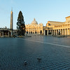 A surprisingly empty St. Peter's Square. Not sure if it was just early or everyone was sleeping-in prepping for a night of New Year's eve partying...