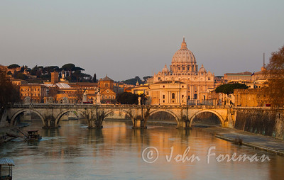St Peter's Basilica at first light