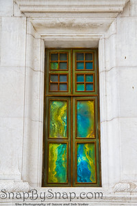 Window with Colorful Corrosion