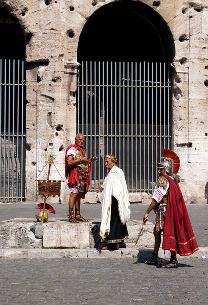 Roman Soldiers at the Colosseum Rome