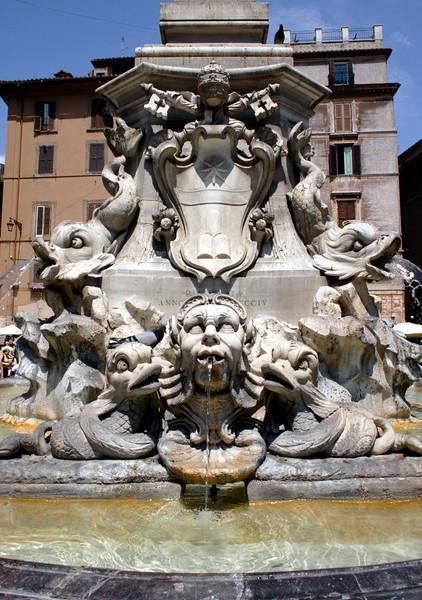 Fountain at obelisk at the Piazza della Rotonda Rome
