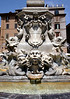 Fountain at obelisk at the Piazza della Rotonda Rome