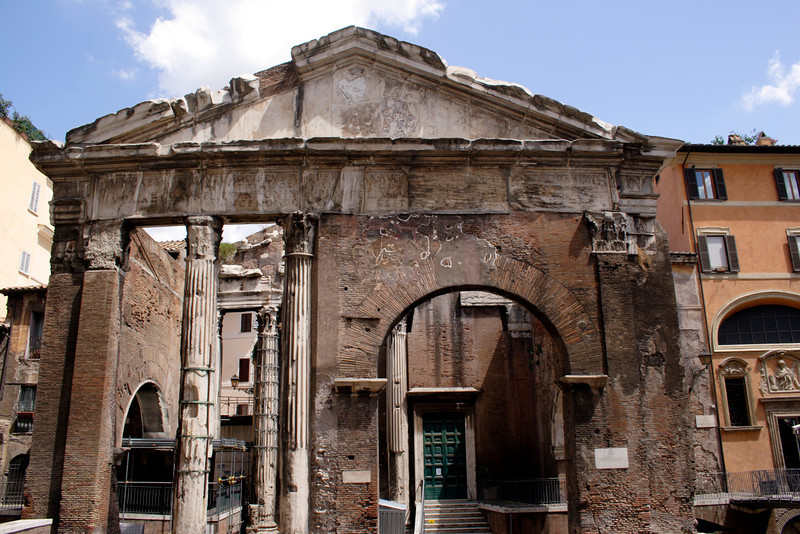 Portico d'Ottavia in the Jewish Ghetto Rome