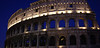 Panoramic of Colosseum Rome at night