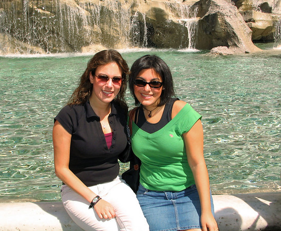 Jackie & Lys at Trevi Fountain