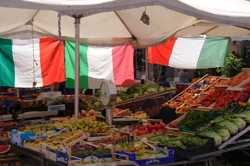 Fruit and vegetables stall Campo de Fiori Rome