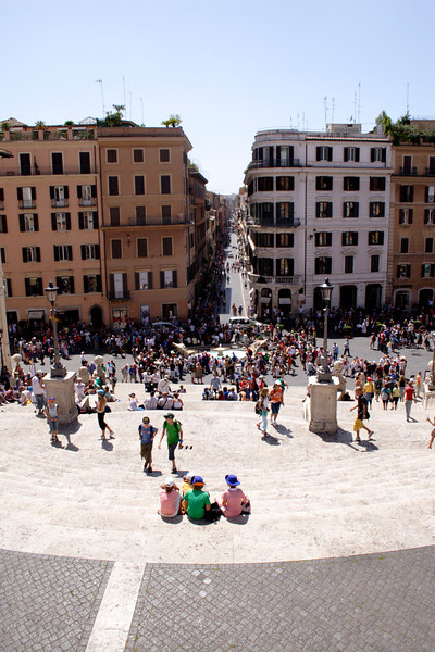Piazza di Spagna view from the Spanish Steps Rome