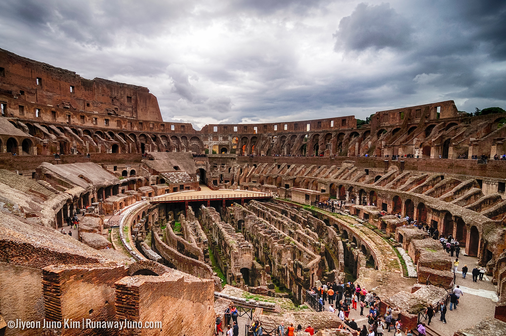 Colosseum and its underground revealed