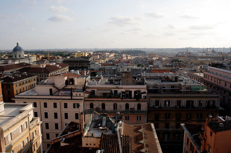 Rome skyline view from the Esquilino district