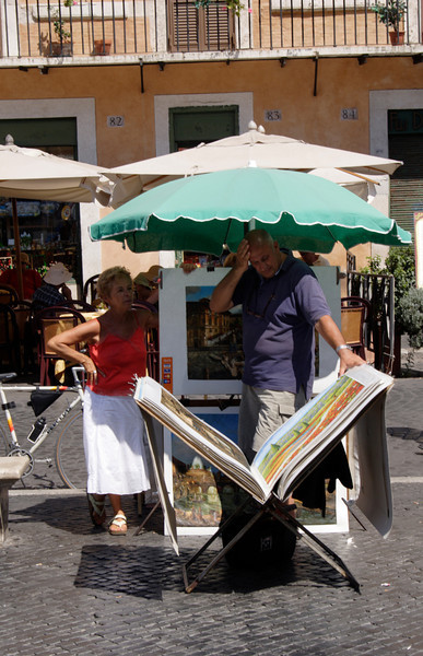 Street artist at the Piazza Navona Rome