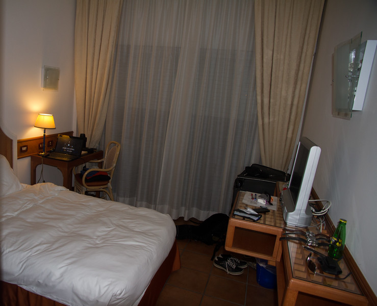 View of hotel room in Rome