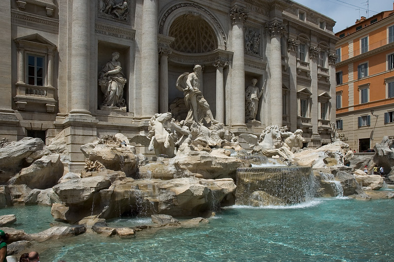 The Trevi Fountain in Rome Italy