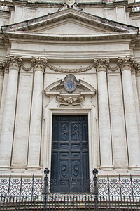 Door with Roman Style Architecture