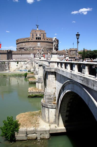 Ponte Sant Angelo bridge and Castel Sant Angelo Rome