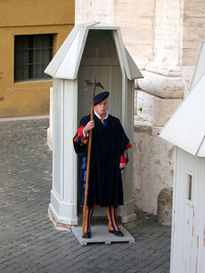 Rome - October 2004 Swiss guard at the Vatican