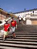 Descending the Spanish steps Rome