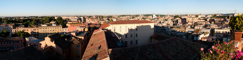 Panoramic view of Rome from our Hotel