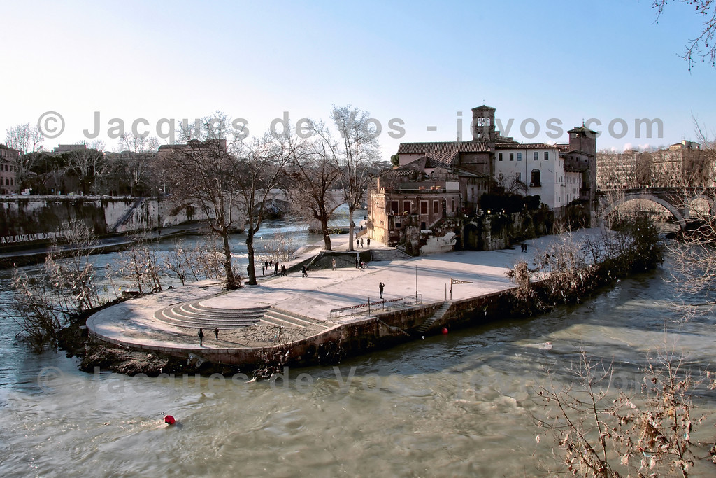 Tiber Island<br /> <br /> Shot during winter, as viewed from the south...