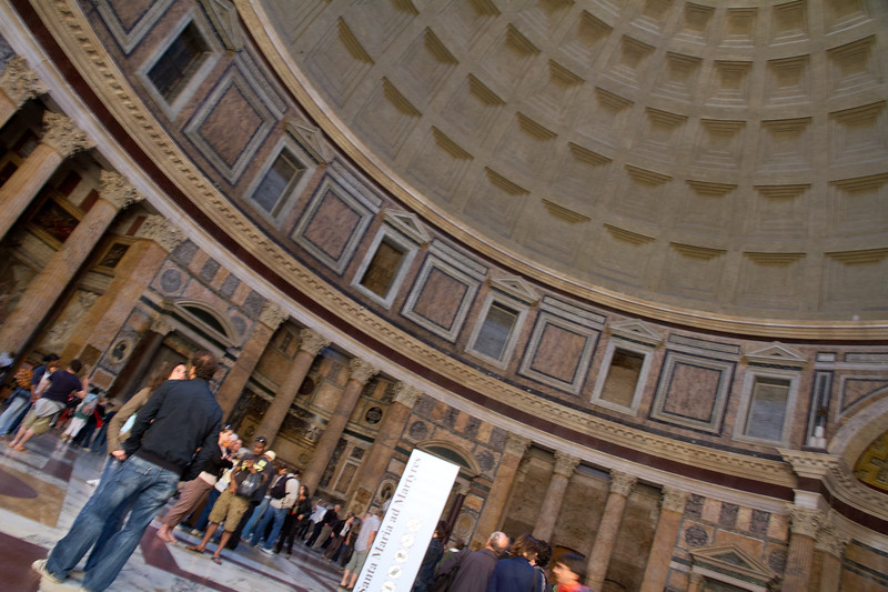 Inside the Pantheon: Rome, Italy.