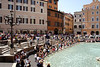 Crowd of onlookers at the Trevi Fountain Rome