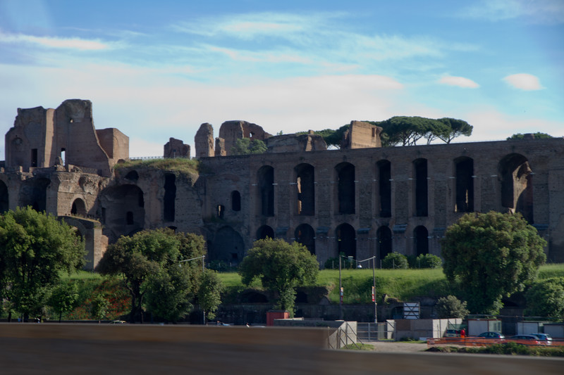 Part of the Circus Maximus, a Roman Chariot racing track.