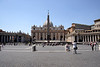 St Peter's Square and the Basilica di San Pietro Rome