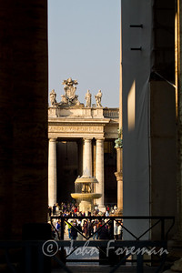 Peeking at St Peter's Piazza