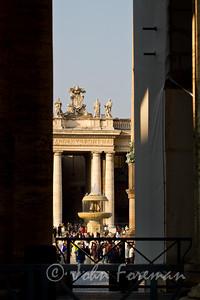 Peeking at St Peter's Piazza