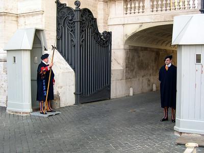 Rome - October 2004 Swiss guard at the Vatican
