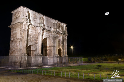 Moody Arch - Arch of Constantine in Rome