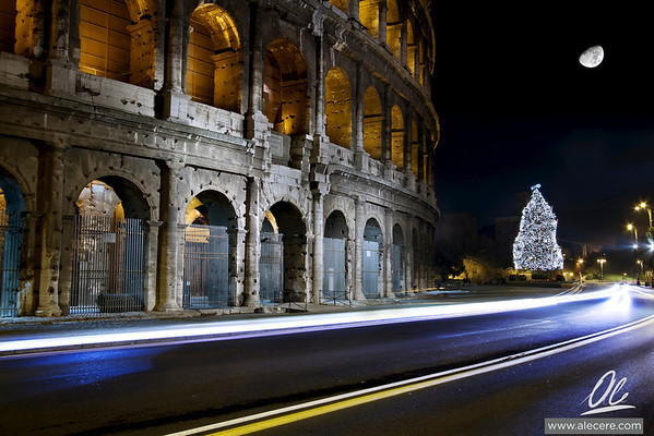 Roman Christmas Tree - Amphitheatrum Flavium or Colosseum of Rome