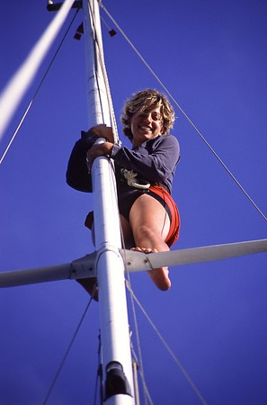 Irene on the Mast