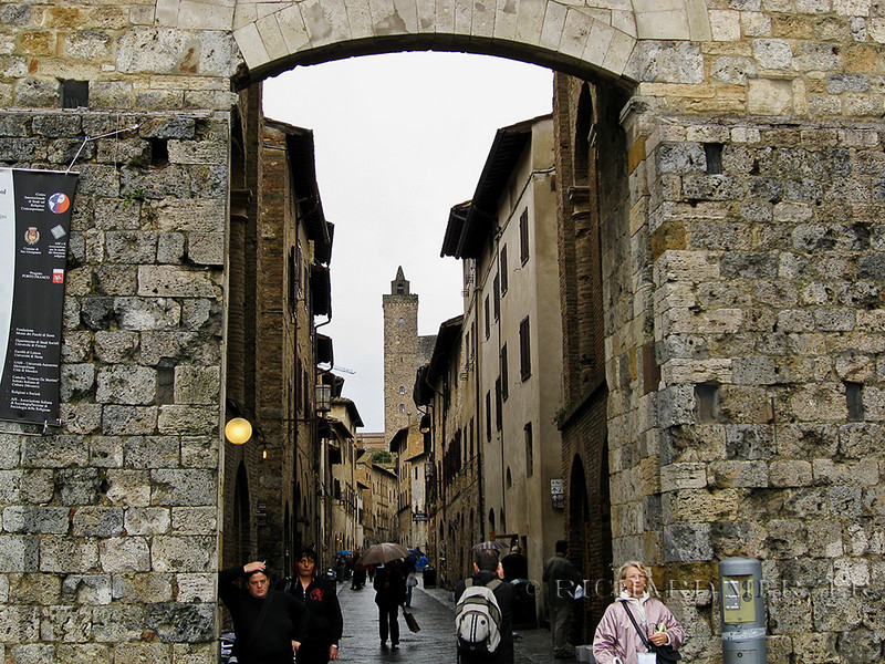 Porta San Giovanni; entrance gates to San Gimignano