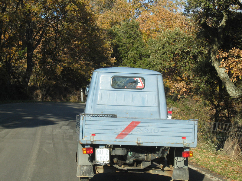 It's great being stuck behind a Piaggio on mountain roads...