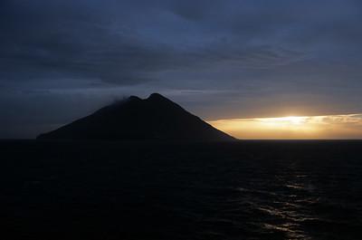 Stromboli island in Sicily