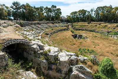 The Roman amphitheater.