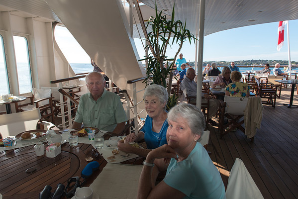 "Lunch at the ""family table"" on the Aegean Odyssey."