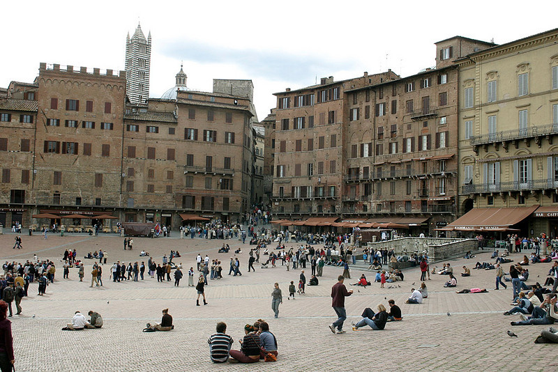 Siena-The Piazza del Campo