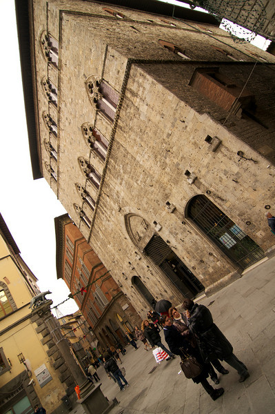 On the streets of Siena.