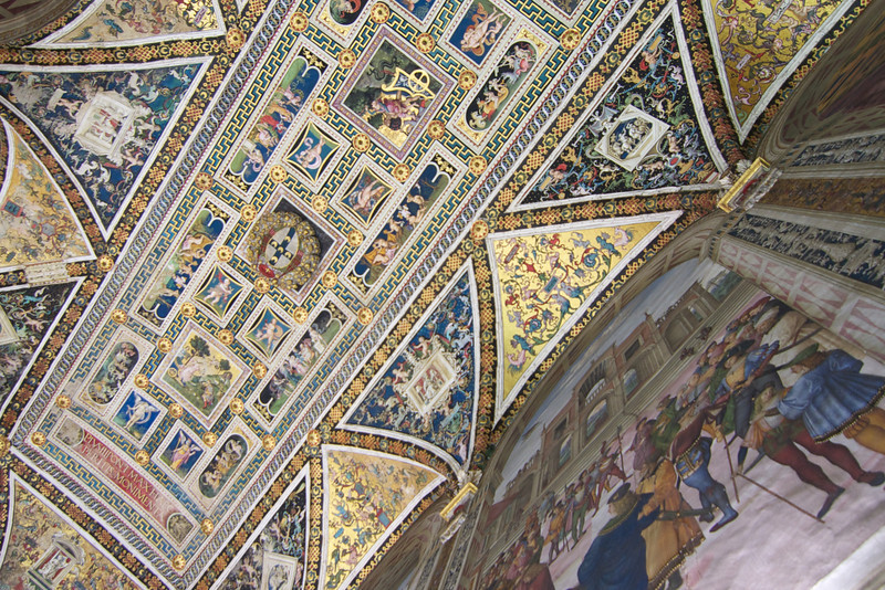 Ceiling of library within Duomo di Siena.