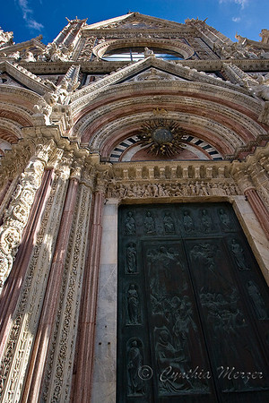 Duomo entrance facade and details