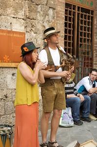 Musicians in San Gimignano