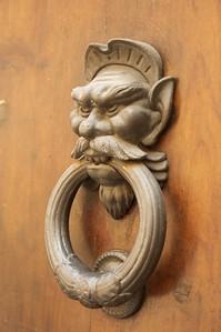 Door knocker in Siena