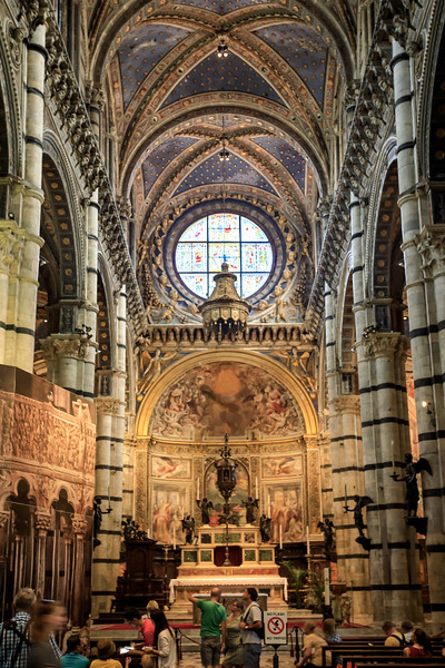 At the front of the Siena cathdral, with the 15thC High Altar