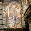 One of many painted panels inside the Siena cathedral