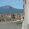 View of the Tempio di Givio (Temple of Jupiter) and Arco Ornorario, Pompeii