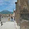 View Along Forum toward Mount Vesuvius, Pompeii