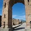 View Through Arco Ontario down Via del Foro, Pompeii