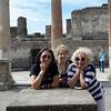 Rosalind, Barbara and Isobel Outside Macellum, Pompeii