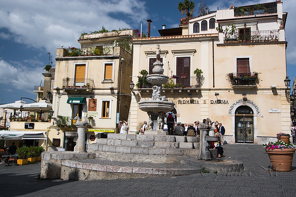 The main square in Taormina